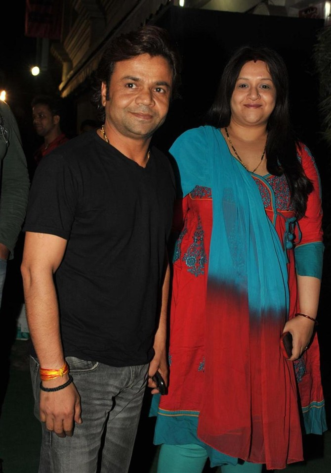 Rajpal Yadav with wife Radha