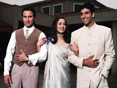 Saif Ali Khan, Madhuri Dixit and Akshay Kumar in Aarzoo
