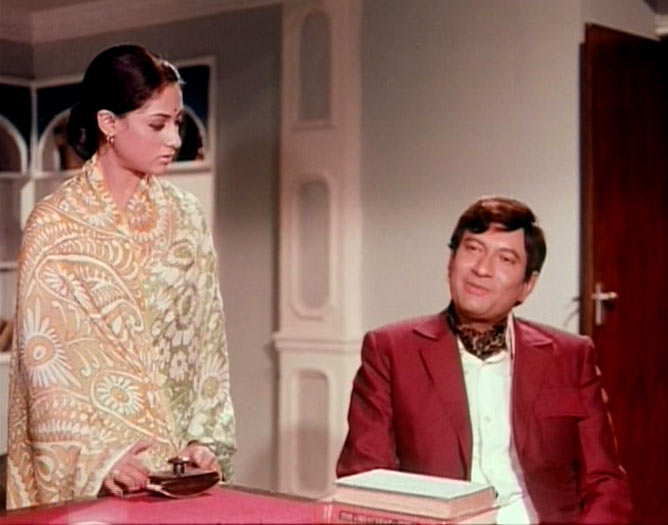 Jaya Bachchan and Vijay Anand in Kora Kagaz
