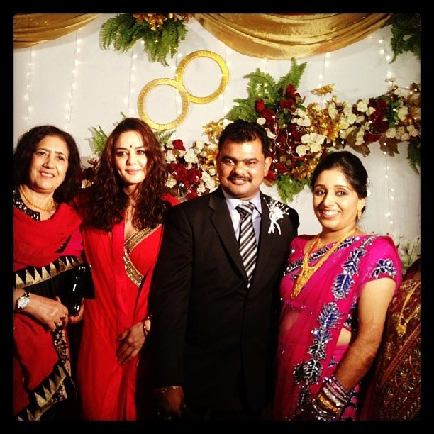 Preity Zinta at a wedding