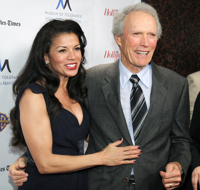 Dina Ruiz and Clint Eastwood