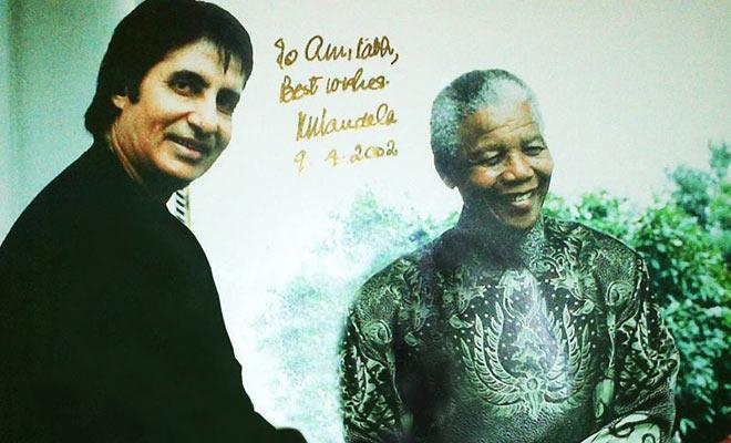 Amitabh Bachchan and Nelson Mandela