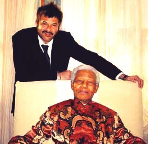 Anil Kapoor with Nelson Mandela