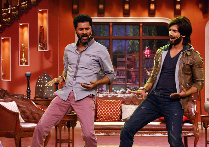 Prabhu Dheva and Shahid