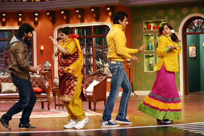 Shahid Kapoor, Kiku Sharda, Sonu Sood and Gaurav Gera