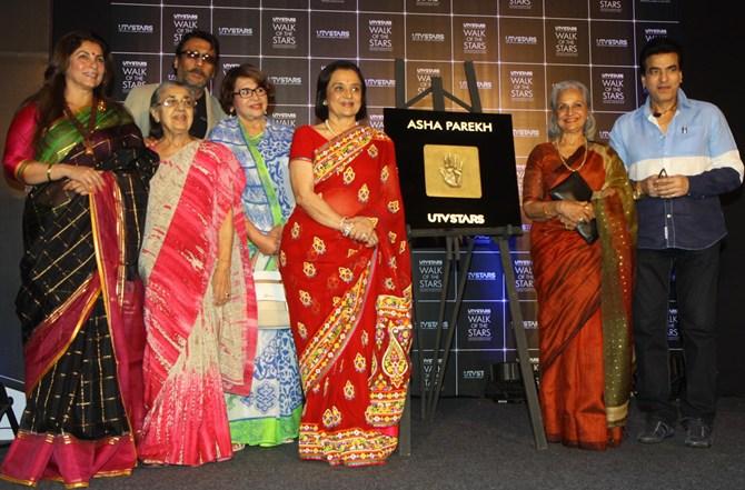 Dimple Kapadia, Shammi, Jackie Shroff, Helen, Asha Parekh, Waheeda Rehman and Jeetendra