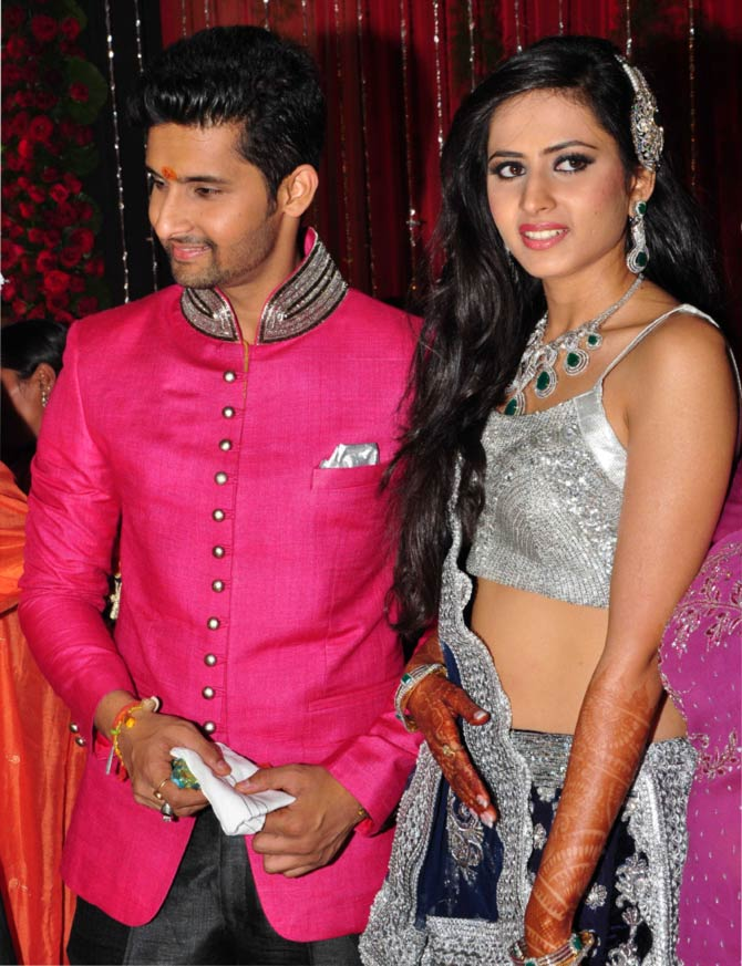 Sargun Mehta and Ravi Dubey's Sangeet ceremony