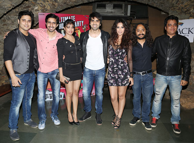 The What The Fish! cast wth director Gurmmeet Singh