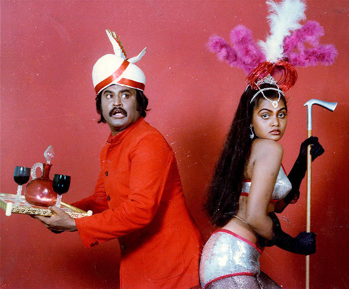 Rajinikanth with Silk Smitha in Paayam Puli