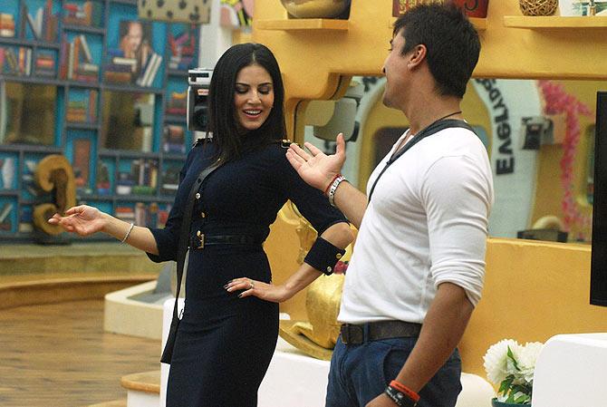 Sunny Leone and Ajaz