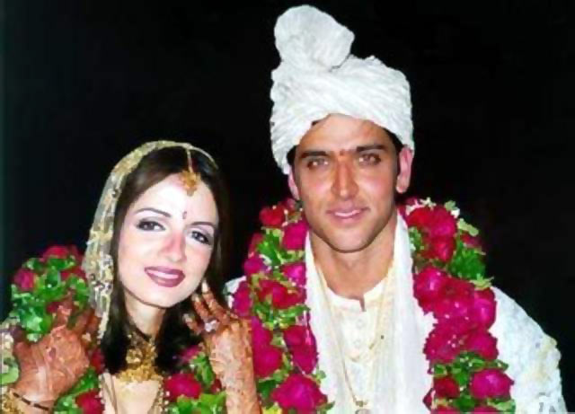Hrithik Roshan and Sussanne at their wedding