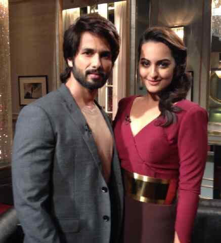 Sonakshi Sinha and Shahid Kapoor on Koffee With Karan.