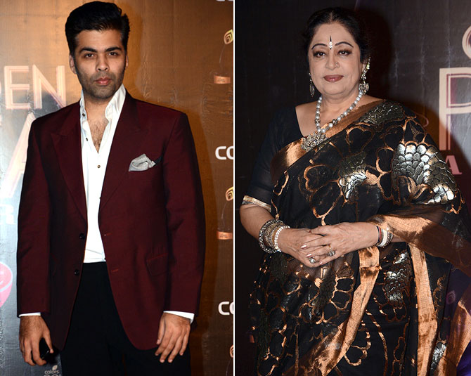 Karan Johar and Kirron Kher