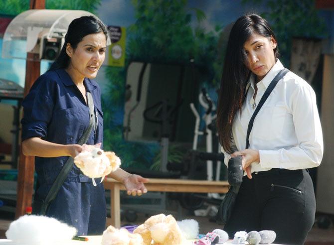 Kamya and Sofia in Bigg Boss 7