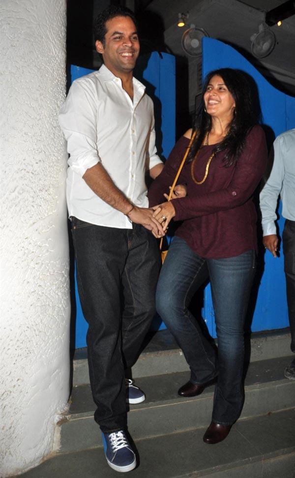 Vikramaditya Motwani with Ishika Mohan