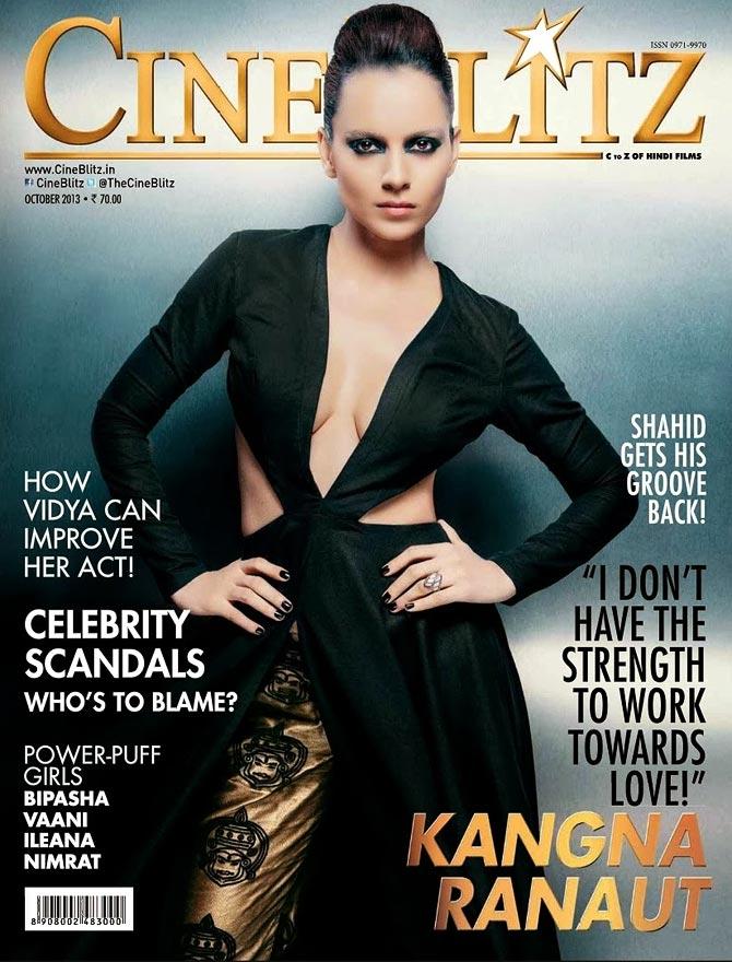 Kangna Ranaut on Cine Blitz cover