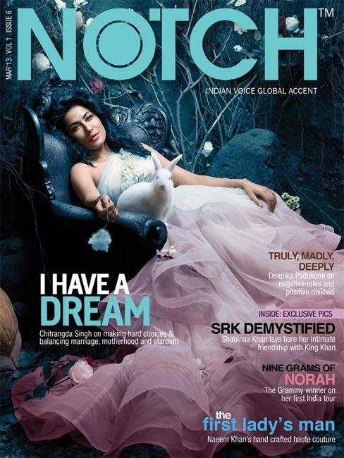 Chitrangada Singh on Notch cover