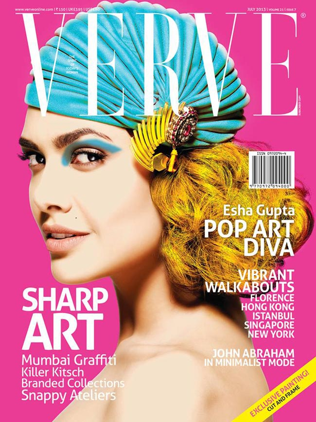 Esha Gupta on Verve cover