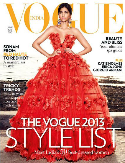 Sonam Kapoor on Vogue cover