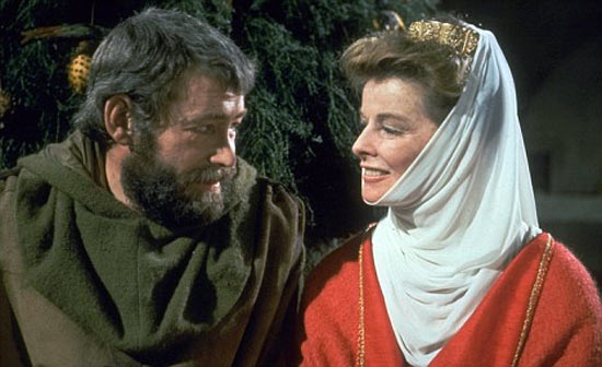 Peter O'Toole and Katharine Hepburn in The Lion In Winter