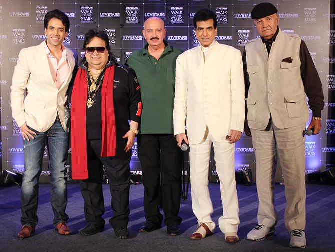 Tusshar Kapoor, Bappi Lahiri, Rakesh Roshan, Jeetendra and Prem Chopra