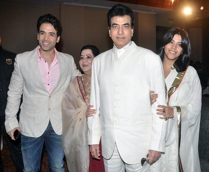Tusshar, Shobha, Jeetendra and Ekta Kapoor