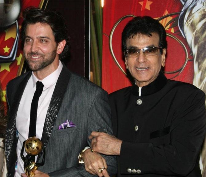 Hrithik Roshan and Jeetendra