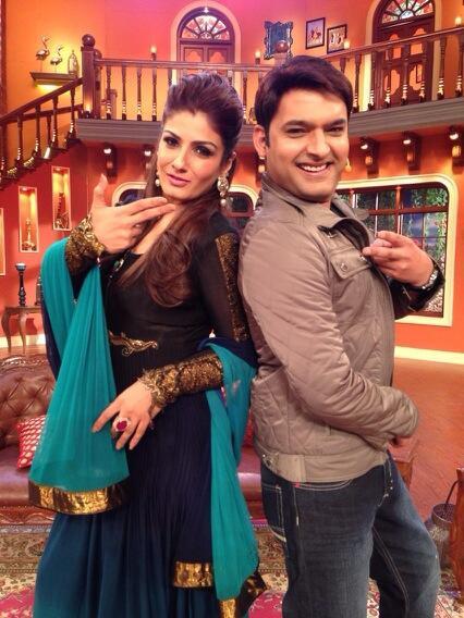 Raveena Tandon and Kapil Sharma