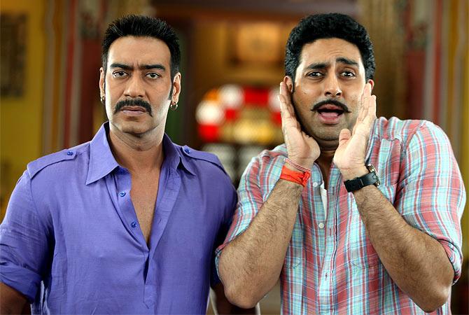Ajay Devgn, abhishek Bachchan in Bol Bachchan