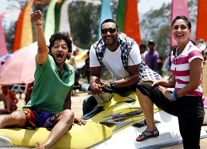 Shreyas Talpade, Ajay Devgn, Kareena Kapoor in Golmaal 3