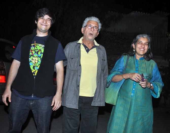 Naseeruddin Shah, Ratna Pathak Shah and Vivaan