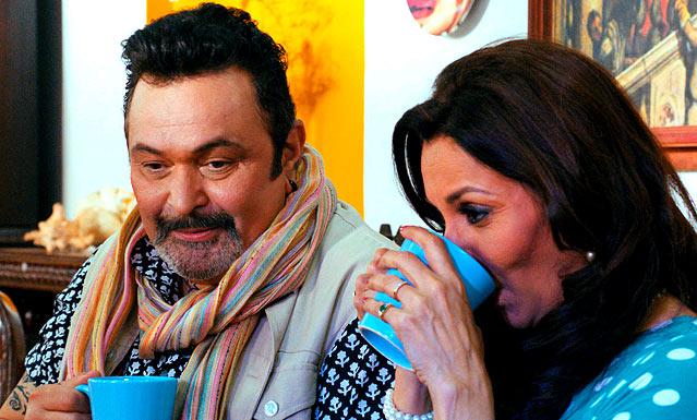 Rishi Kapoor Lilette Dubey in Chashme Baddoor.