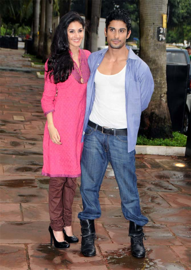 Prateik with Isaaq costar Amyra Dastur