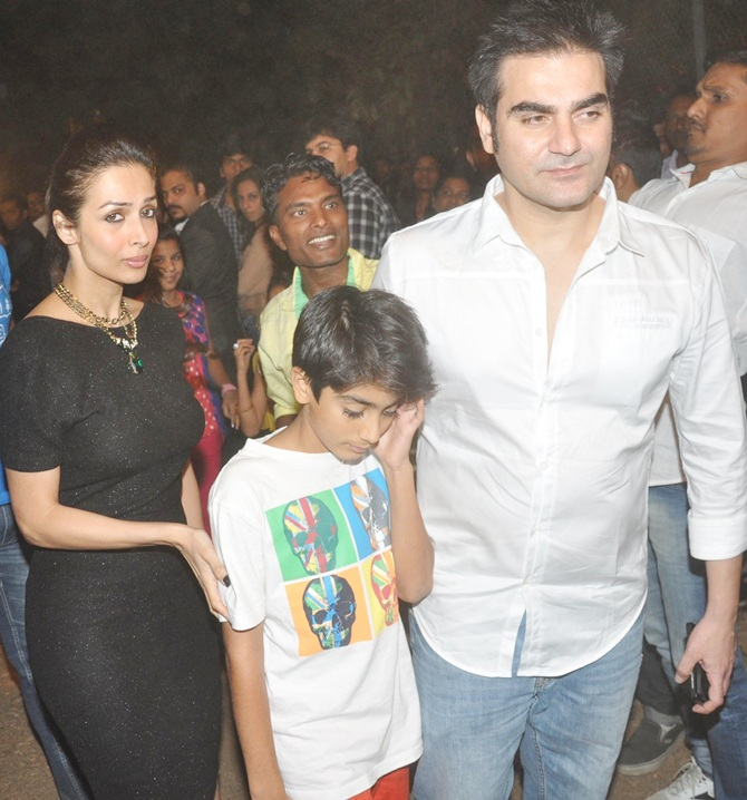 Arbaaz and Malaika Arora Khan with their son Arhaan