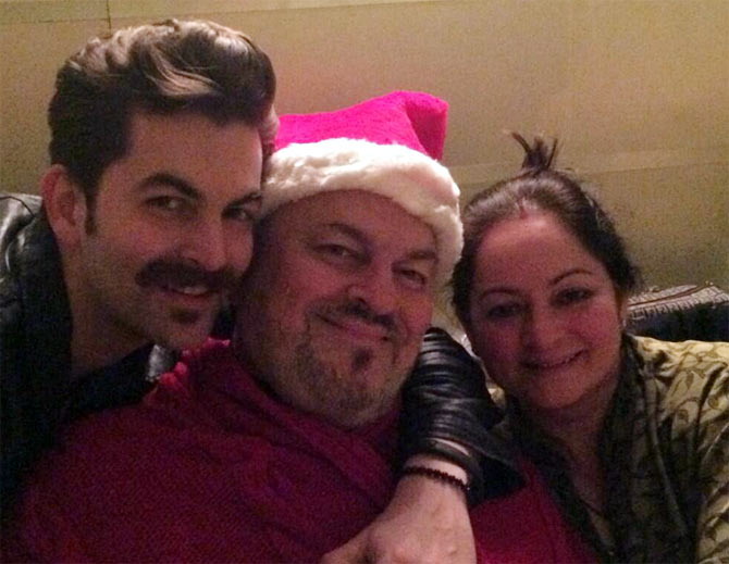 Neil Nitin Mukesh, Nitin Mukesh and his wife.