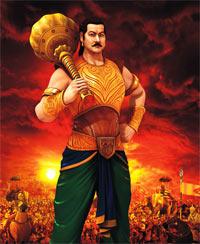 A scene from Mahabharat