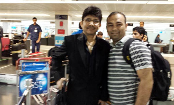 Kamaal R Khan with Sameer Sange