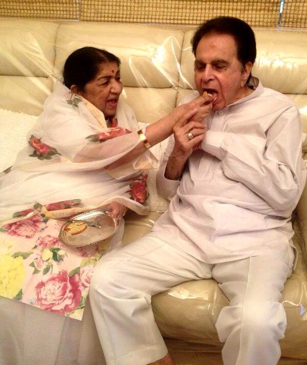 Lata Mangeshkar and Dilip Kumar