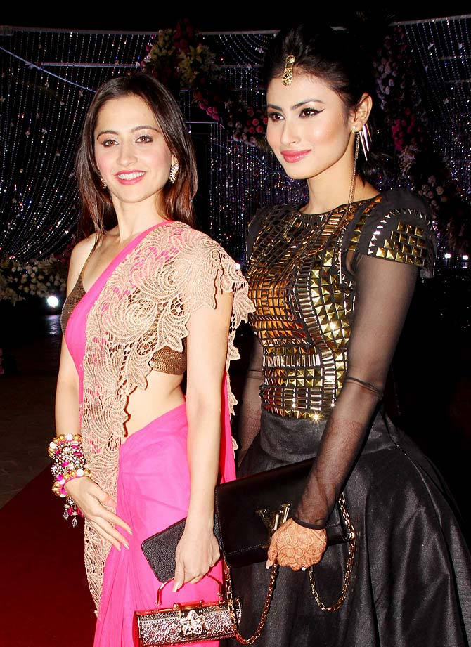 Sanjeeda Sheikh and Mouni Roy