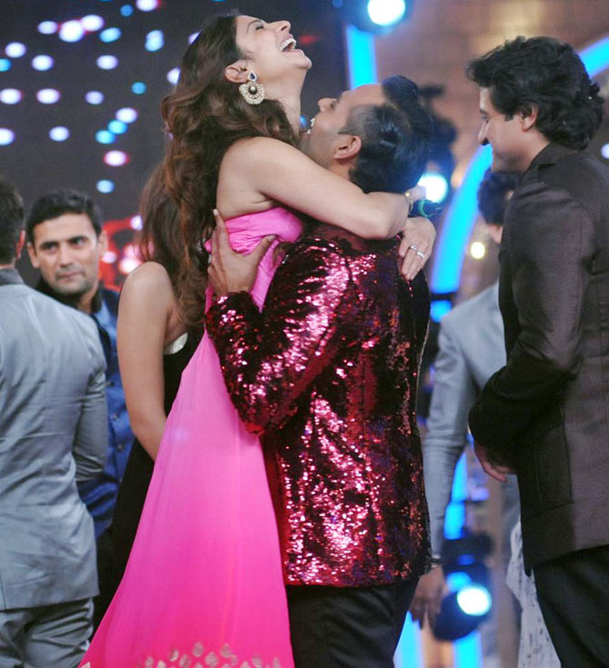 Tanisha Mukherjee and Andy on Bigg Boss 7 finale
