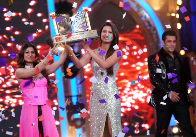 Tanisha, Gauhar Khan and Salman Khan