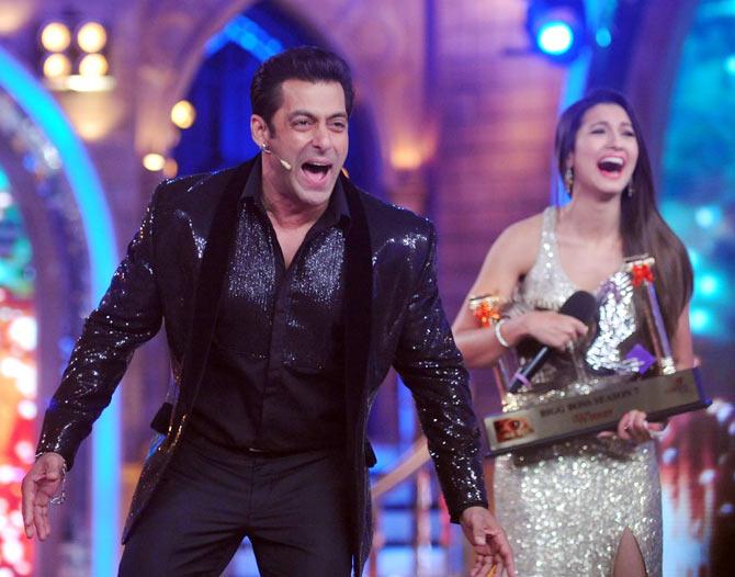 Salman Khan and Gauahar Khan