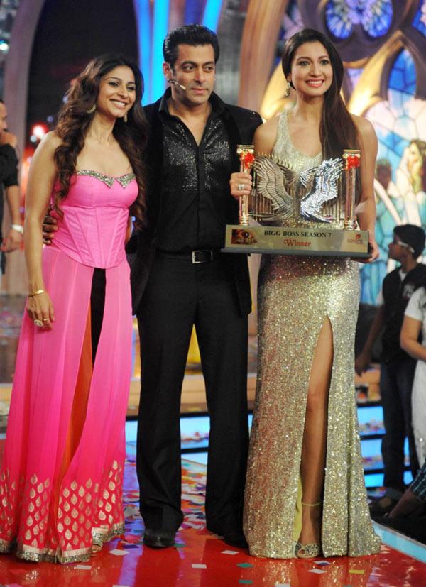 Tanisha, Salman Khan and Gauahar Khan