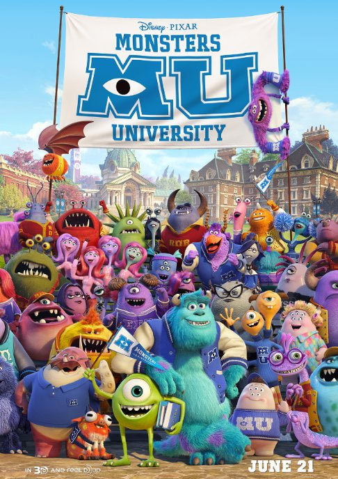 Movie poster of Monsters University