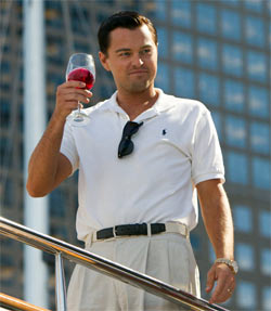 Leonardi DiCaprio in The Wolf Of Wall Street