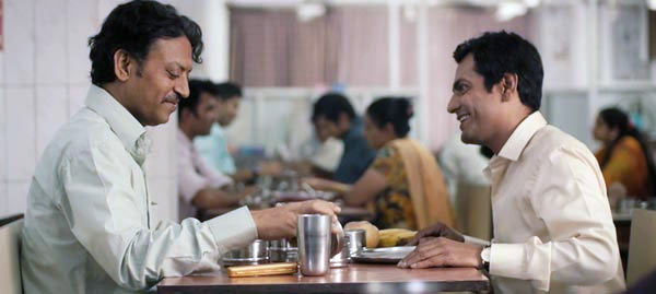 Irrfan Khan and Nawazuddin Siddiqui in The Lunchbox