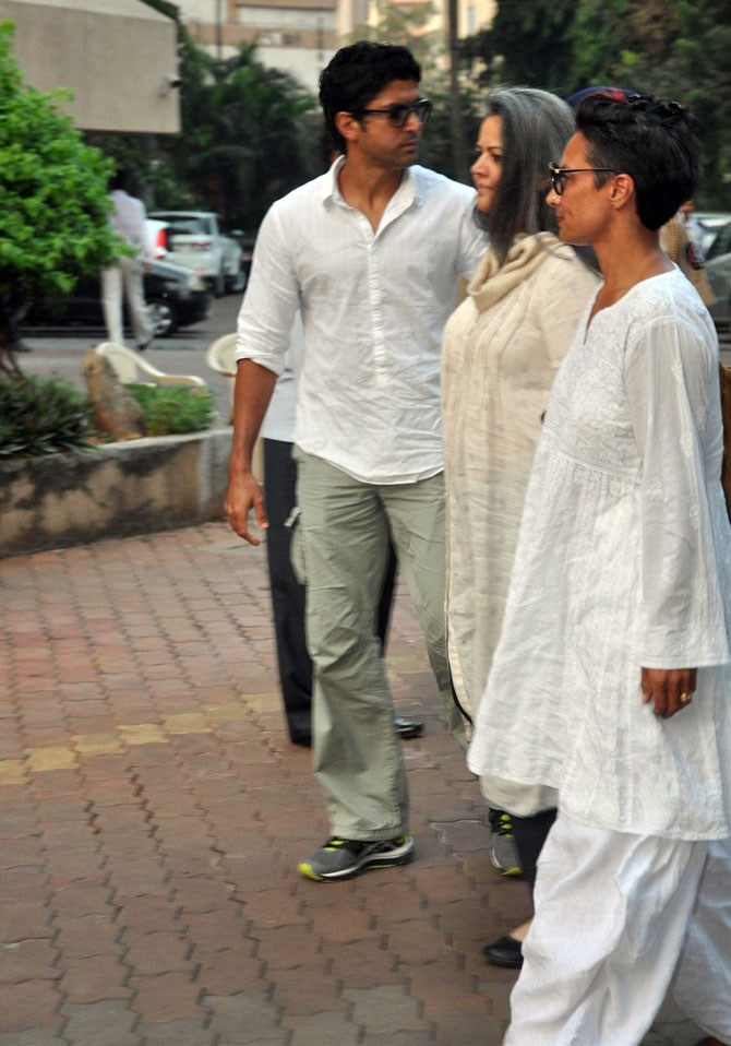 Farhan and Adhuna Akhtar