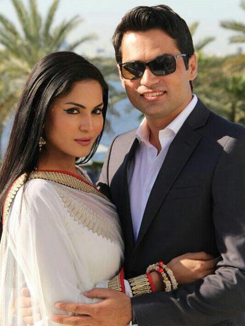 Veena Malik and husband