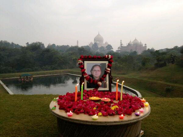 Shraddhanjali for Farooque Shaikh at the Taj Mahal in Agra today