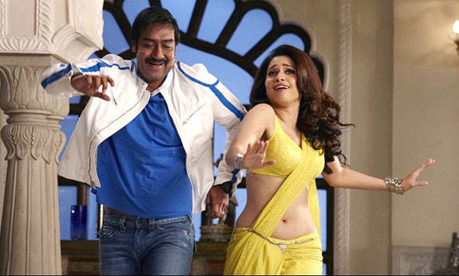 Ajay Devgn and Tamannah in Himmatwala